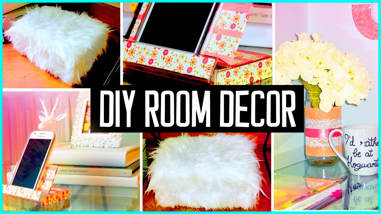 Ordinary Diy Projects For Bedroom Decor Part - 9: DIY ROOM DECOR! Recycling Projects | Cheap U0026 Cute Ideas! Organization -  YouTube