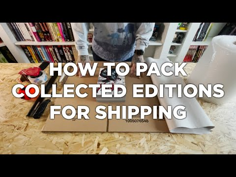 How To Pack Trade Paperbacks, Oversized Hardcovers, and Omnibus for Shipping