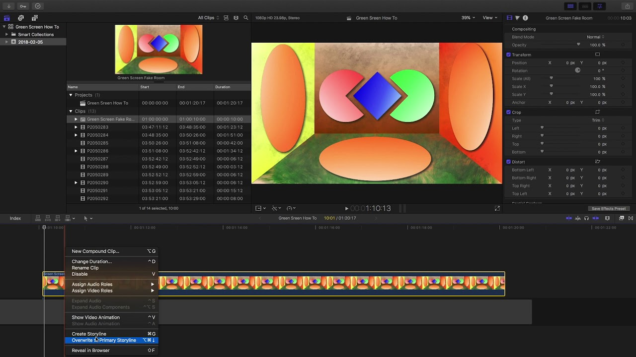 Tutorial: green screen and keyer effect in final cut pro | thanh.