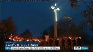 les commémorations du 11 novembre 2018 au Hartmannswillerkopf
