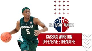 Cassius Winston | Offensive Strengths | NBA Draft Junkies 2020 Draft Prospects