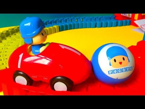 Funny Pocoyo Car Race Track