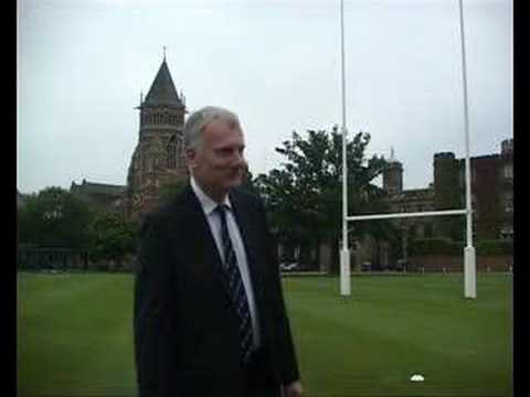 Patrick Derham kicks for Future Hope at Rugby Scho...