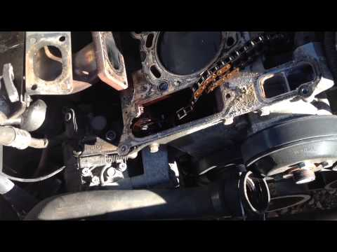 BMW M54 M52tu M56 common coolant pipe leak and timing chain guide inspection e46 e39 e53