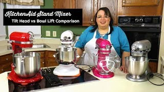 KitchenAid Stand Mixer Tilt Head vs Bowl Lift Comparison ~ Stand Mixer Review ~ What's up Wednesday