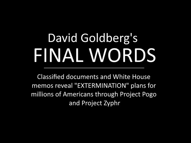 Part 1 David Goldb*rg Project P0G0 and Project Zephyr