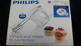 Philips HR1459 300 watt hand mixer/blender review unboxing- demo-atta गुंदना सीखे