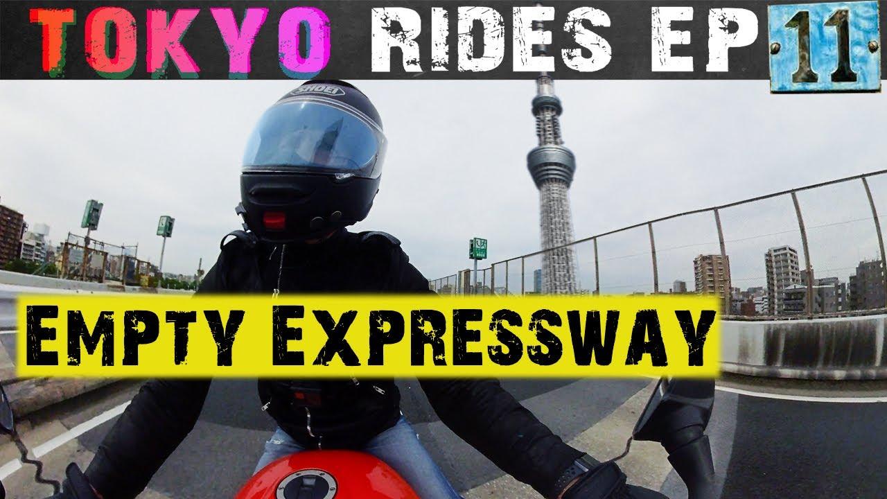 Tokyo Motorcycle Ride EP. 11   Empty Expressway into Tokyo   POV On Triumph Speed Triple