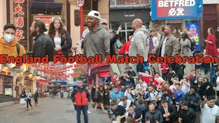 England Vs Germany Football Match Celebration in China Town London 2021 Aslam o Alaikum UK Vlogs