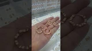 14K 물결 파이프 귀걸이 택1