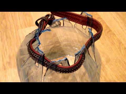 Как сделать воротник для собаки из пластиковой бутылки видео