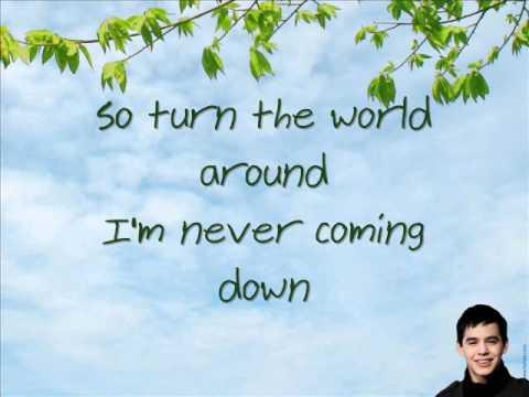 David Archuleta - Parachutes and Airplanes w/ lyrics on screen