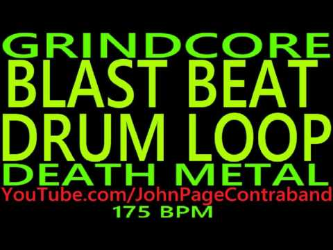 Grindcore Blast Beat Drum Loop 175 bpm Death Metal Backing Track