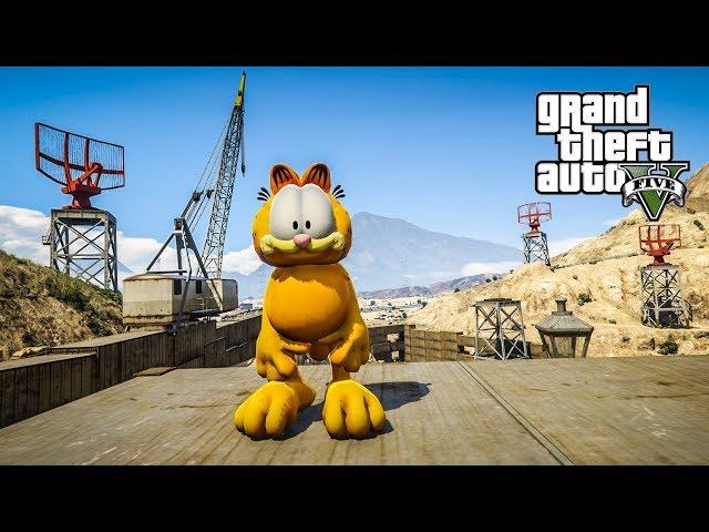 เหมียวโหดกระโดดตบ (Garfield MOD GTA5)