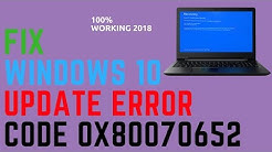 Fix Windows 10 Update Error Code 0x80070652