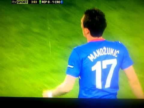 Republic of Ireland 0-1 Croatia - Mario Mandžukić  Euro 2012 Poland & Ukraine