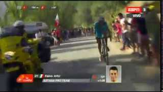 Fabio Aru Attacca e manda in crisi Froome 7^ tappa Vuelta 2015