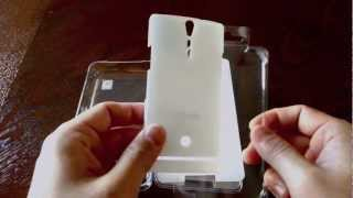 sgp spigen xperia s ultra thin crystal white case review unboxing
