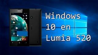 Windows 10 Mobile en Lumia 520