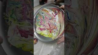 Acrylic pours with children #3