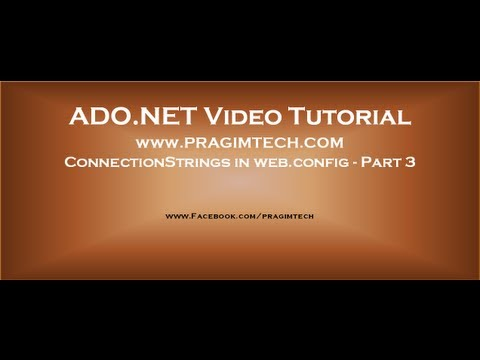 ConnectionStrings in web.config configuration file - Part 3