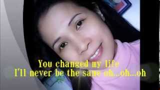 You changed my life in a moment  by Sarah Geronimo (lyrics)