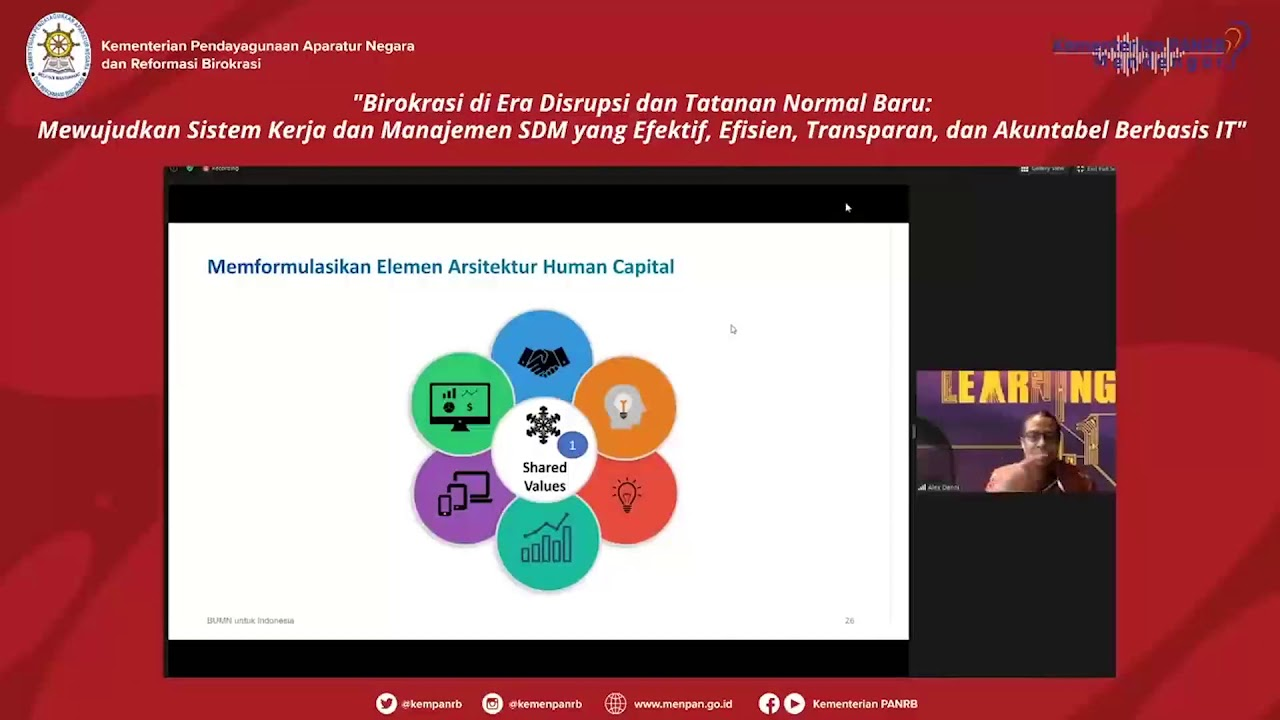 Paparan Alex Denni: Kementerian BUMN Berbagi Transformasi Human Capital