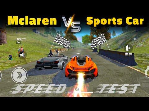 McLaren Speed Ability Test   McLaren Vs Sports Car Race In Free Fire