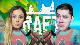 RAFT ⛵ | SURVIVAL WE DWOJE ???? | ROAD TO 800K! ???? - Na żywo