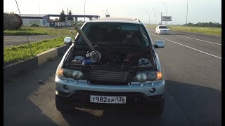 BMW X5 с ВАЗ Мотором. Ставим ОГРОМНУЮ Турбину и едем валитЬ!