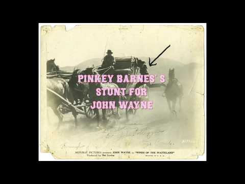Pinkey Barnes's Stunt for John Wayne in Winds Of The Wasteland, 1936
