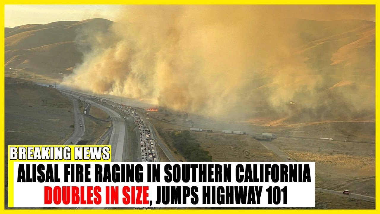 Alisal Fire in Santa Barbara County fire nearly doubles in size