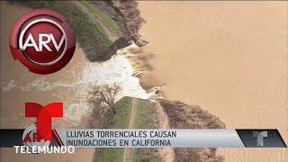 Lluvias torrenciales azotan a California | Al Rojo Vivo | Telemundo