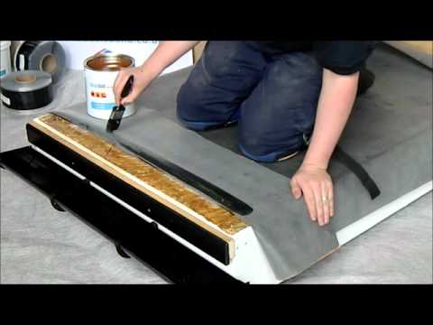 Rubber Roofs Contact Adhesive Installation Youtube