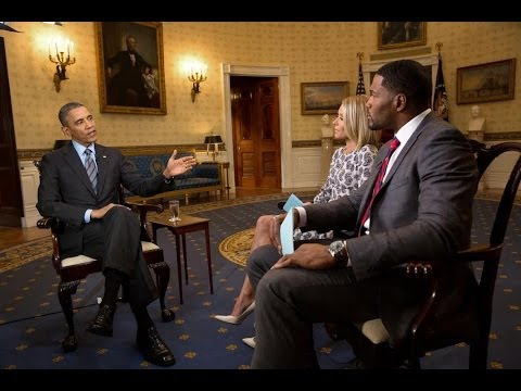 LIVE with Kelly and Michael Interviews President Obama