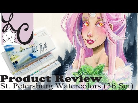 """Art Supply/Product Review, St. Petersburg """"White Nights"""" Watercolour (36 Set+Speed Paint)"""