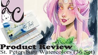 "Art Supply/Product Review, St. Petersburg ""White Nights"" Watercolour (36 Set+Speed Paint)"