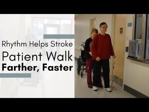 Rhythm helps stroke patient walk farther, faster: Brian Harris