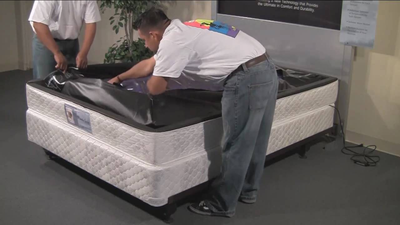 sterling sleep systems softside waterbed setup instruction youtube