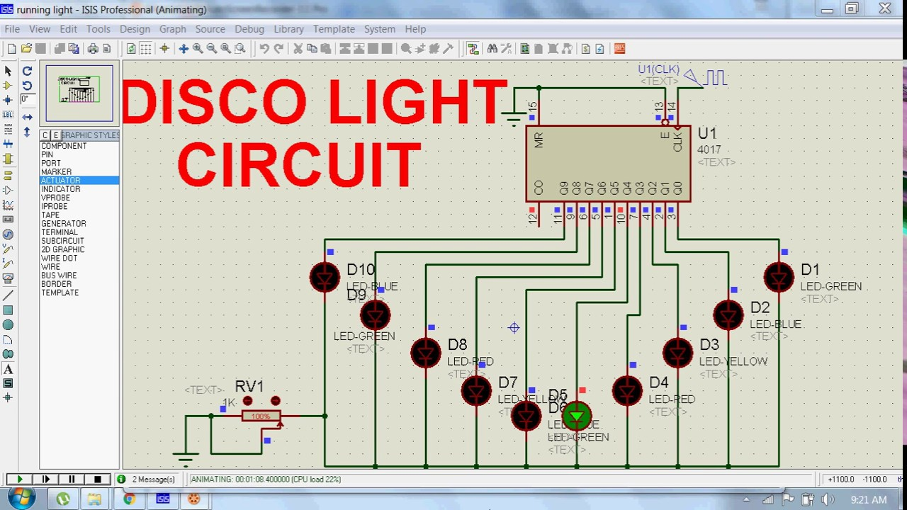 Light Circuit Diagram Of Disco Not Lossing Wiring Simple Bulb Intermediate Electronics Project 2 Youtube Rh Com