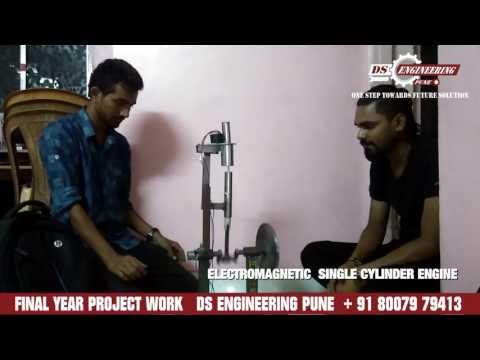 ELECTROMAGNETIC SINGLE CYLINDER ENGINE