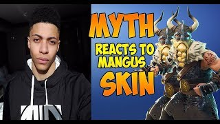 STREAMERS REACT TO *NEW* MANGUS SKIN | Fortnite Epic & Moments
