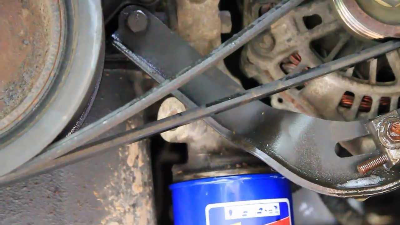 How To Change the Belts on a Mercury Villager Minivan Nissan Quest Alternator Belts Serpentine