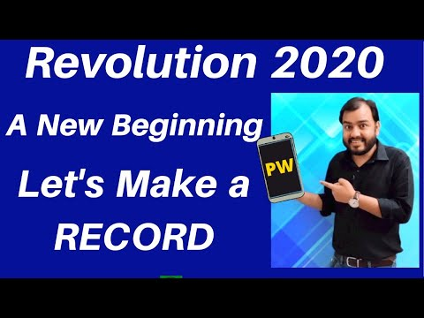 Revolution 2020  :  A New Beginning  - Let's Make A RECORD !! 🔥🔥