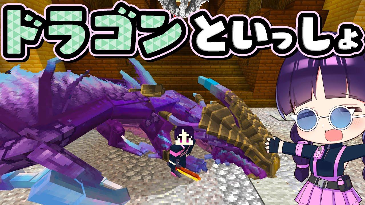 🍁【マイクラ】ドラゴンをペットにして一緒に生活できる王国で野生のドラゴン退治!統合版マーケットプレイス【ゆっくり実況/マインクラフト/Minecraft】