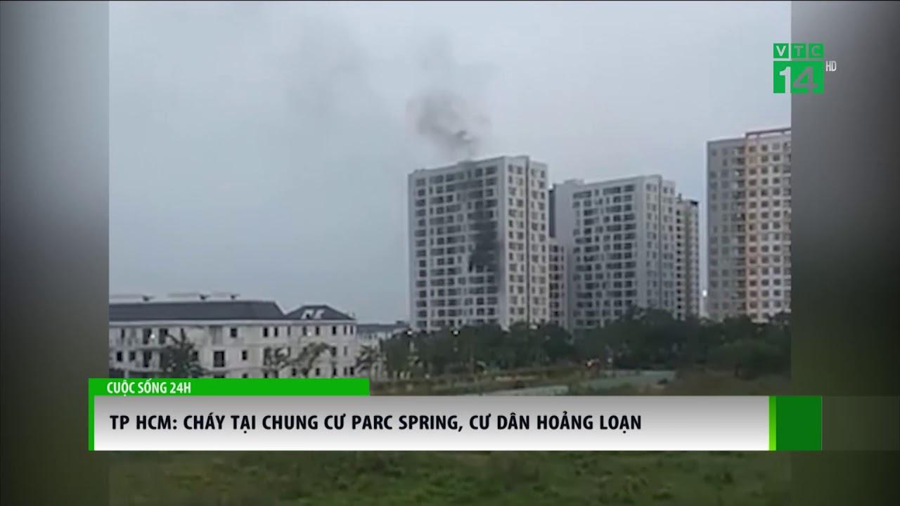 VTC14 | Cháy chung cư Parc Spring, cư dân hoảng loạn
