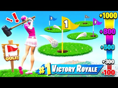Playing GOLF For Our LOOT in Fortnite