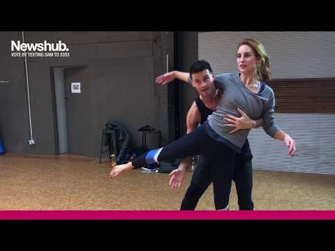 Sam Hayes attempts 'ridiculous backbend' in one of two dances on DWTS NZ | Newshub