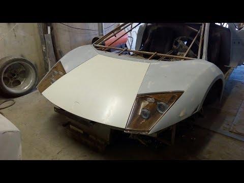 Самодельный Ламборгини Replica Lamborghini/ 10 серия. Делаем фары и капот.