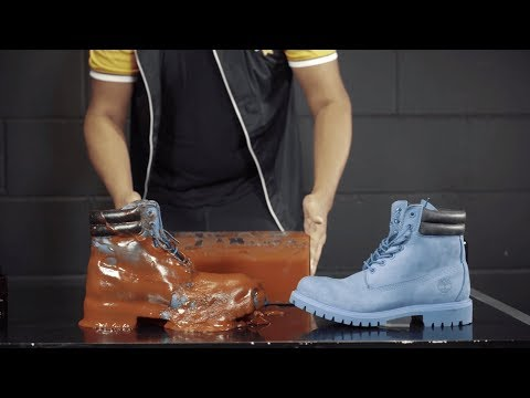 How to clean Timberland dunked in Ketchup using Crep Protect Cure - Extreme Test